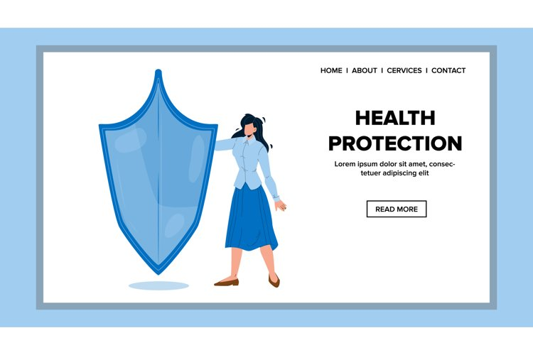 Health Protection And Medical Life Support Vector example image 1