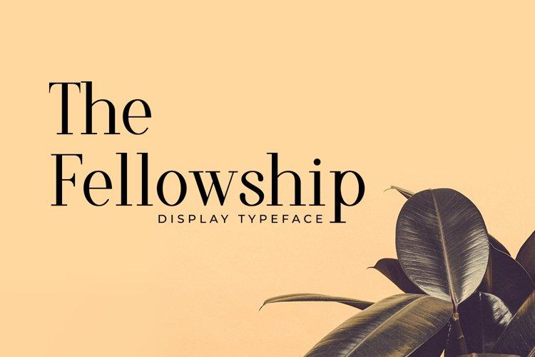 Web Font The Fellowship example image 1