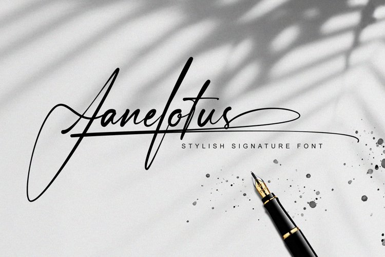 Janelotus - Signature Font example image 1