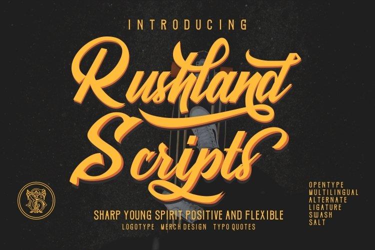 Rushland Scripts Calligraphy Brush style example image 1