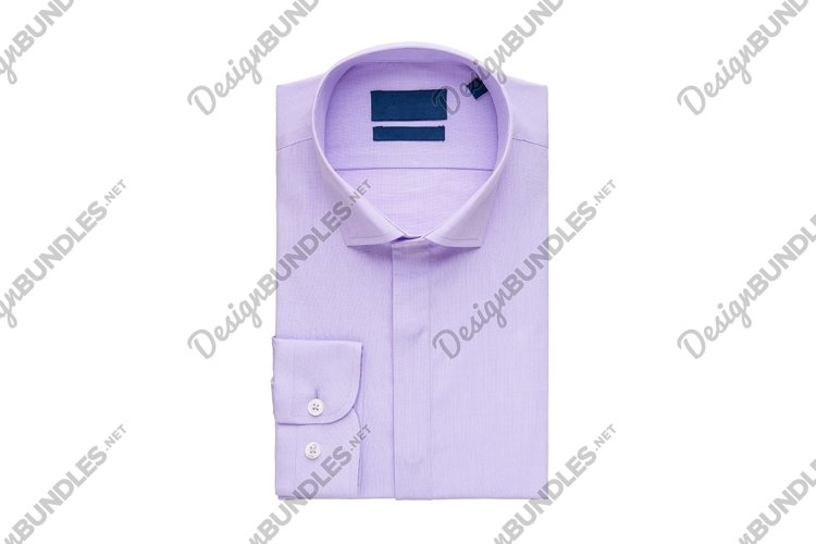 Folded purple shirt on white background, top view example image 1