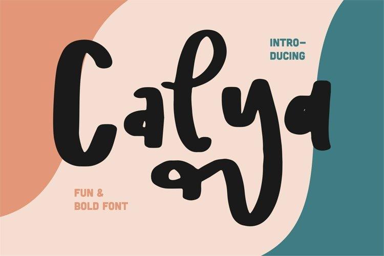 Calya - Fun & Bold Font example image 1