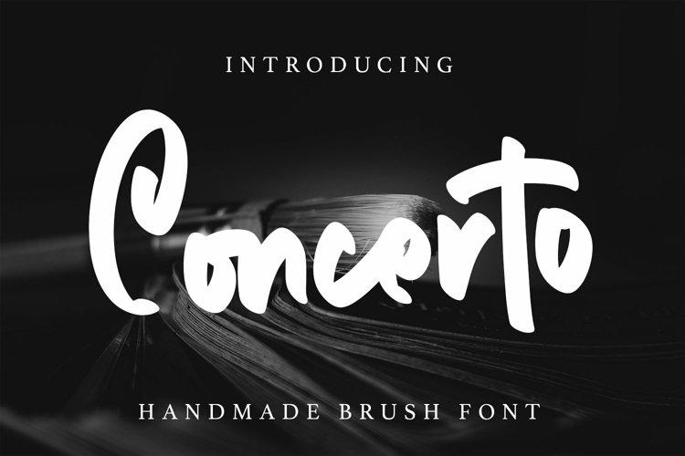Web Font Concerto - Brush Fonts example image 1