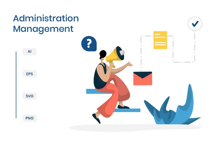 flat illustration Administration Management planning online