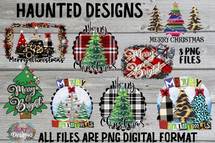 Merry Christmas Tree Sublimation Bundle Clip Art Design example image 1