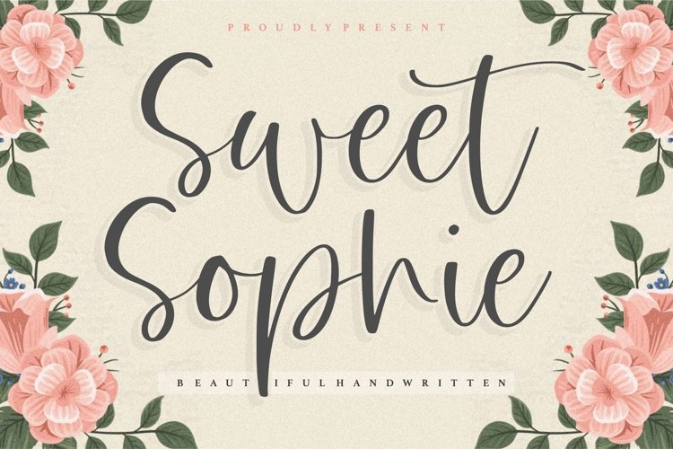 Sweet Sophie Beautiful Handwritten Font example image 1
