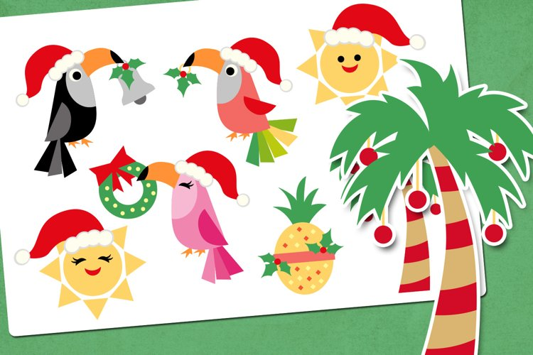 Tropical Christmas Party Illustrations