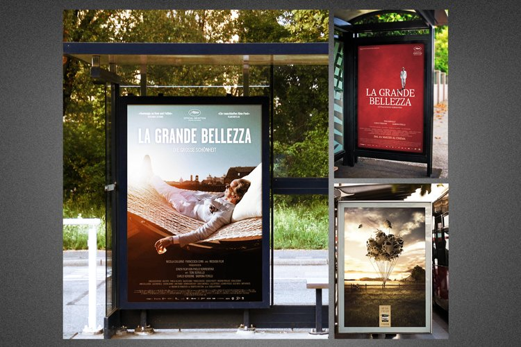 Modern Bus Stop Signs Mockup example image 1