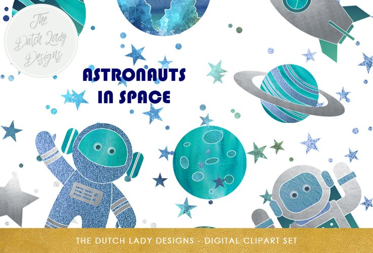 Space & Galaxy Clipart Set example image 1