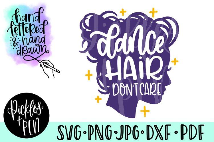 dance hair svg - girls dance svg example image 1
