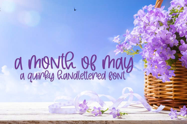 A Month Of May - A Quirky Handlettered Font example image 1