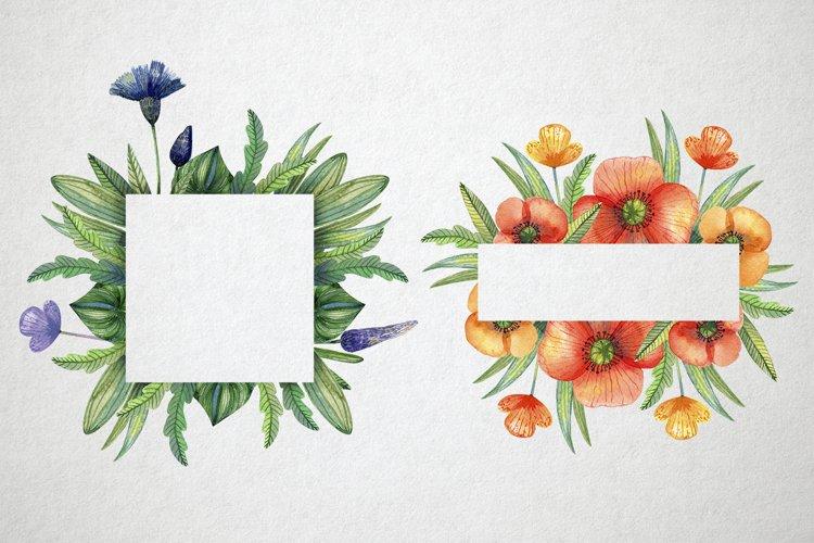 Watercolor wildflowers example 3
