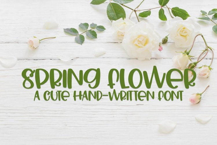 Web Font Spring Flower - A Cute Hand-Written Font example image 1
