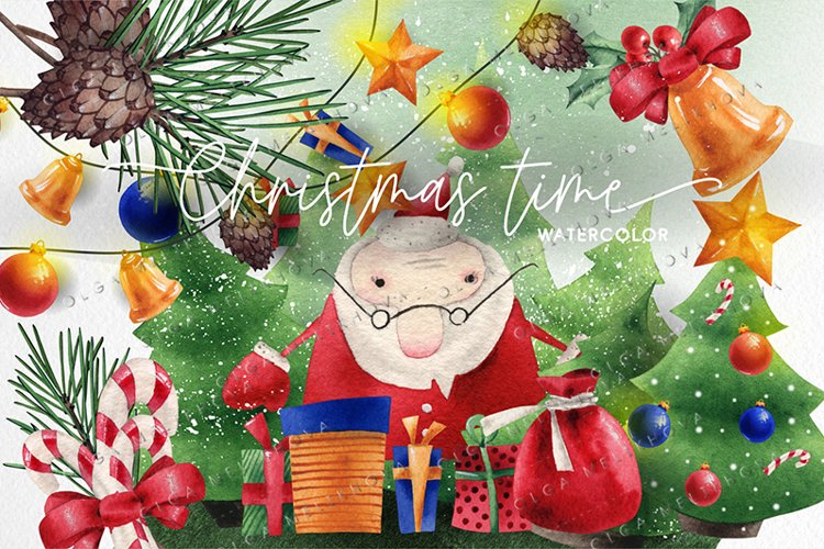 Christmas time, Watercolor