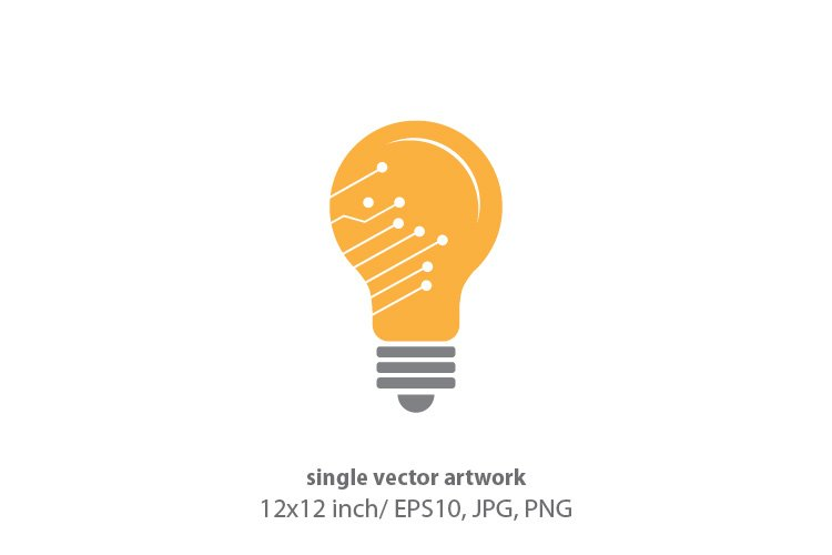 tech light bulb, vector example image 1
