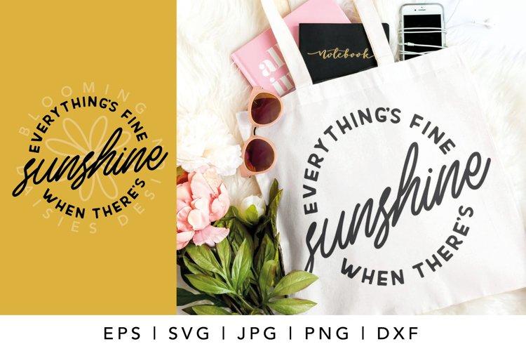 Sunshine, Summer SVG, Tshirt or tote bag designs example