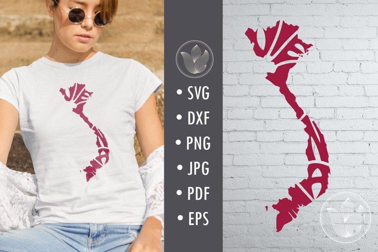 Vietnam svg cut file, Lettering design in map shape example image 1