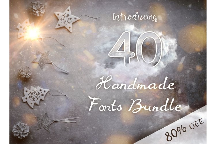 40 Handmade Fonts example image 1
