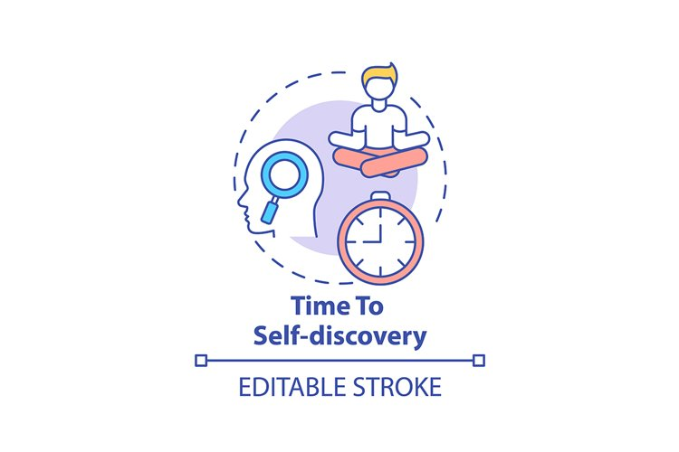 Time to self discovery concept icon example image 1