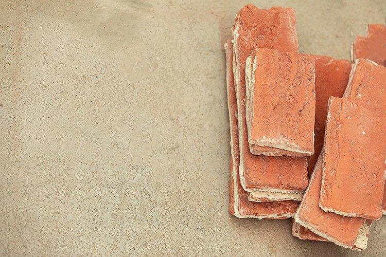 Flat lay of several decorative yellow bricks example image 1