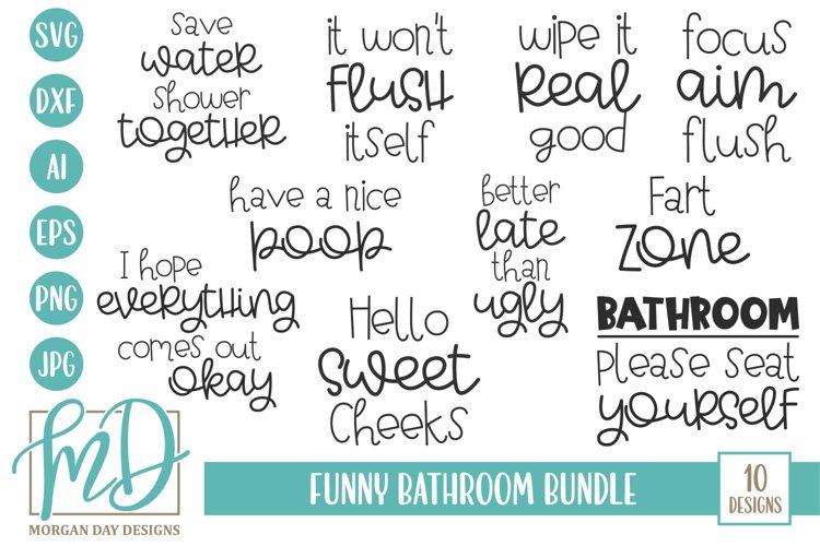 Funny Bathroom Quote Bundle - Bathroom Sign SVG Bundle