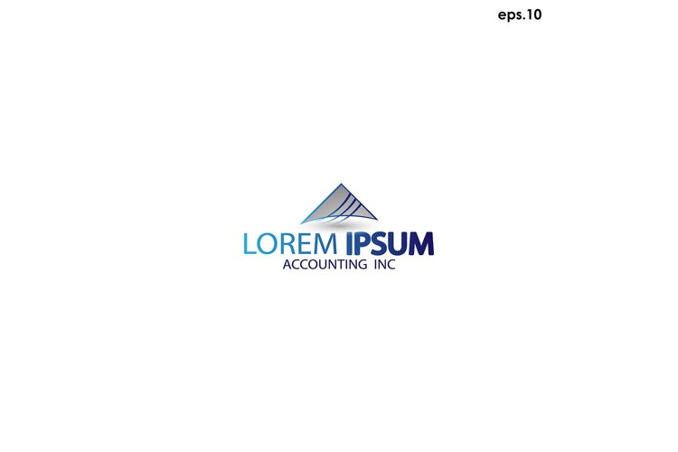 Abstract vector logo accounting example image 1