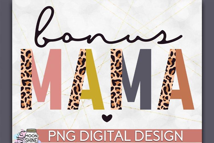 Bonus Mama Leopard PNG Sublimation Design