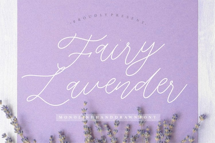 Fairy Lavender Monoline Handdraw Font example image 1