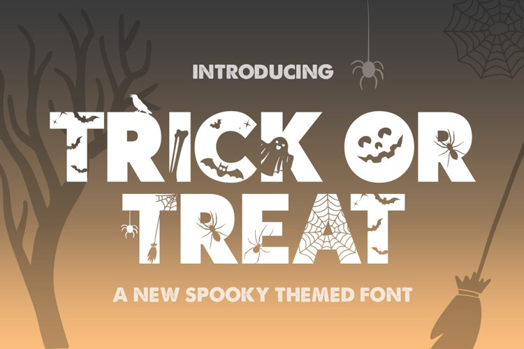 Trick or Treat Silhouette Font example image 1