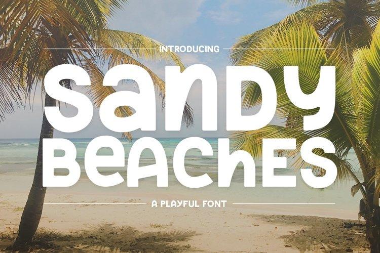 Web Font Sandy Beaches example image 1