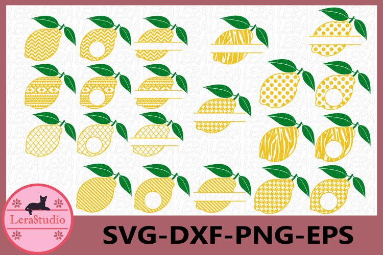Lemon SVG, Lemon Monogram Svg, Lemon Circle Frames, Lemon example image 1