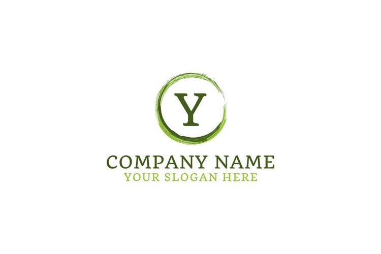 initial logo Y juic vector example image 1