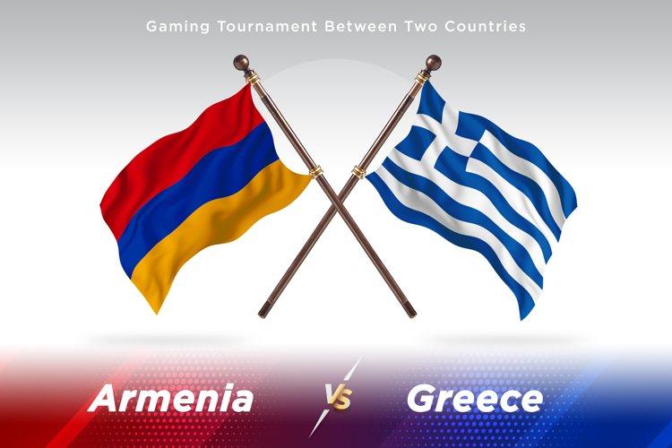 Armenia vs Greece Two Flags example image 1