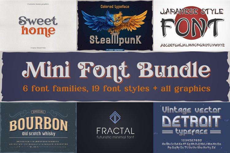 Mini font bundle all bonus