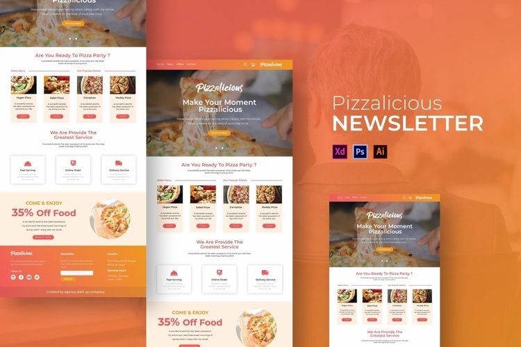 Pizzalicious | Email Newsletter Template example image 1