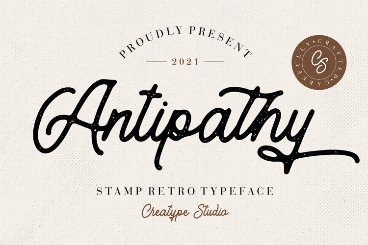 Antipathy Stamp Retro example image 1