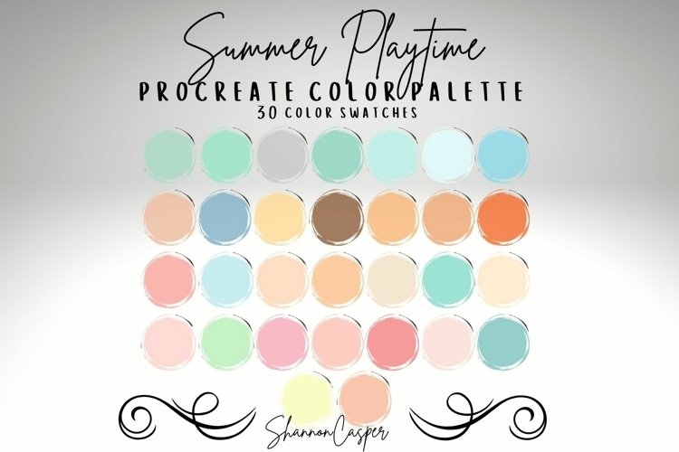 Pastels Mint Blush Pink Procreate Color Palette example image 1