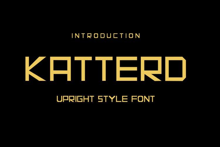 Katterd   Super Sans Serif Font example image 1