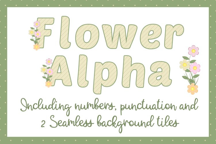 Flower Alphabet example image 1