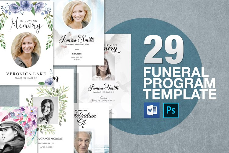 Funeral Program Template 29in1 Big Bundle