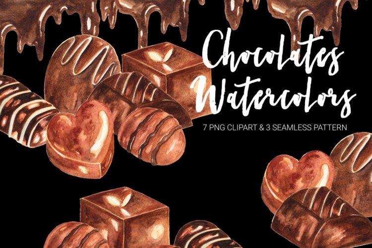 Chocolates Watercolor Clipart