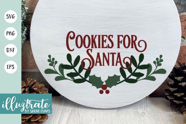 Cookies for Santa SVG Cut File | Christmas SVG | Christmas example image 1