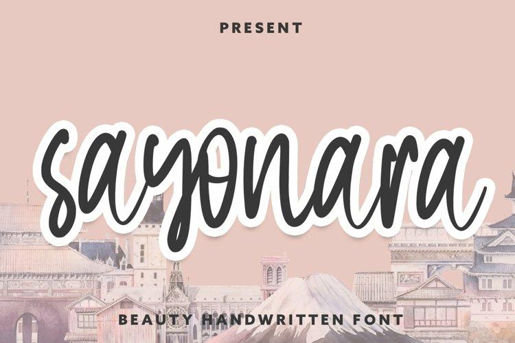 Web Font Sayonara - Beauty Handwritten Font example image 1