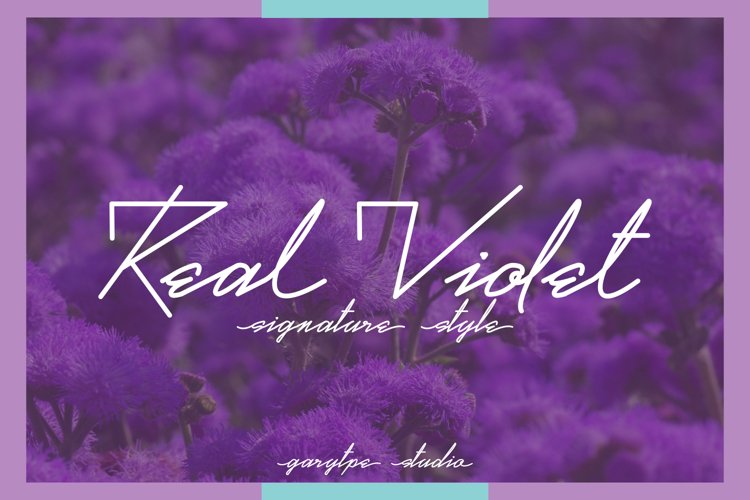 Real Violet - Signature Style Font example image 1