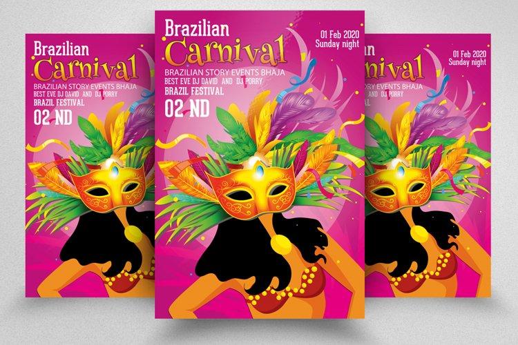 Mardi Gras - Carnival Elegant Flyer example image 1