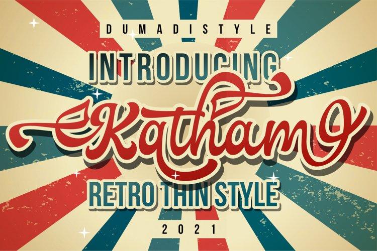 Katham - Retro Style example image 1