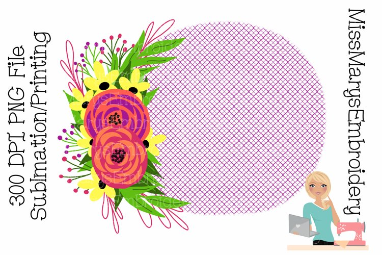 Flowers on Fence Sublimation | Sublimation Background | PNG