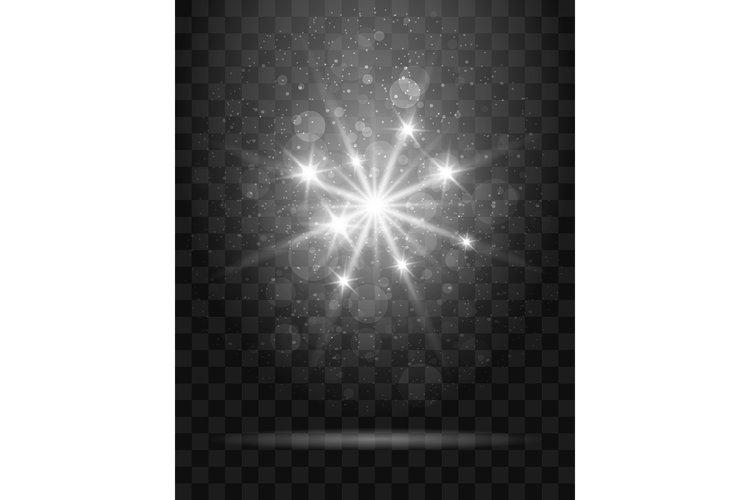 Shining Star on Transparent Background Illustration example image 1