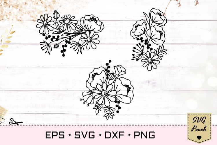 Wildflower bunch florals SVG example image 1