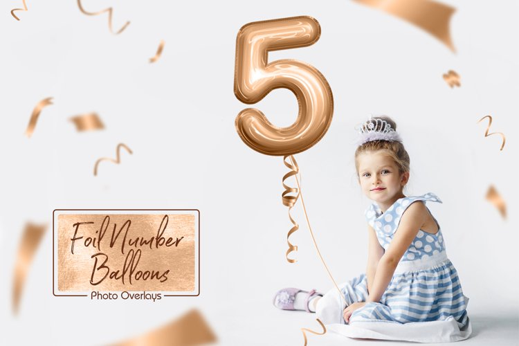 Foil Number Balloons Photo Overlays example image 1